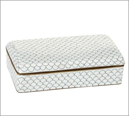 White Cloisonne Box from Pottery Barn (I want this one!) Sale $22.99