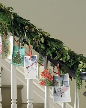 Christmas Card Garland via Martha Stewart