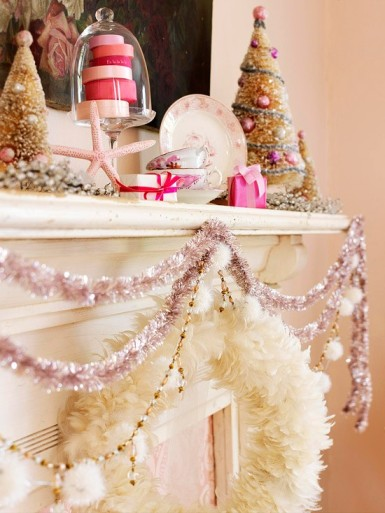 Pink Garland via Better Homes and Gardens (PS - I LOVE this!)