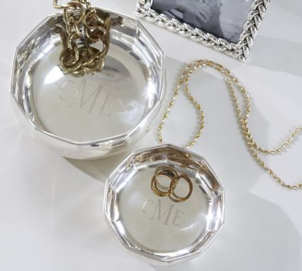 Silver Plated Nesting Bowls (monograming available) from Pottery Barn $19 - $29