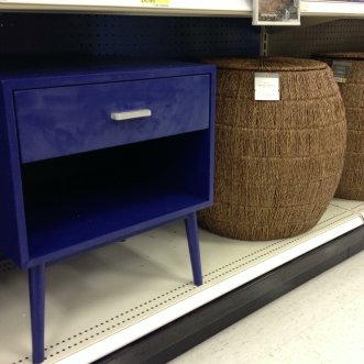 The cute cobalt side table...
