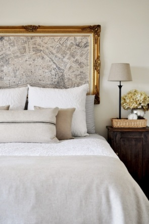 The Painted Hive - LOVE this being used as a headboard!