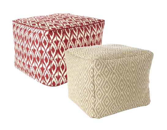 Diamond Patterned Poufs $59.99/ea