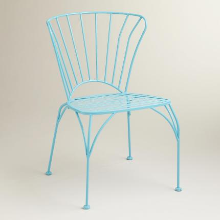 Blue Cadiz Stacking Chair - $99.98 / set of 2
