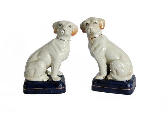 Ceramic Dog Bookends $140/pair