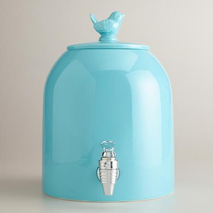 Aqua Ceramic Bird Dispenser - $29.99