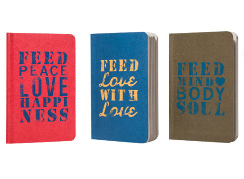 Set of 3 Notebooks $7 = 3 Meals