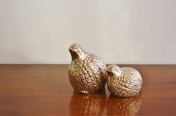 Brass Partridges $34/pair
