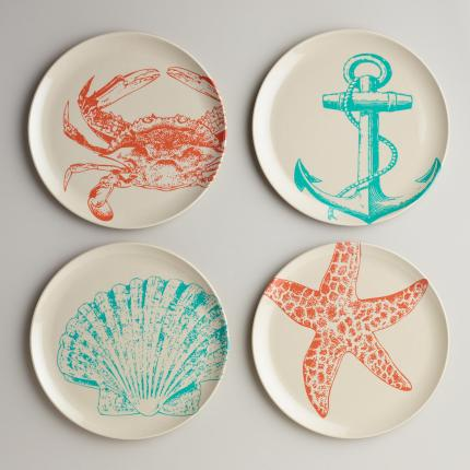 Seascape Plates - $15.96 / set of 4