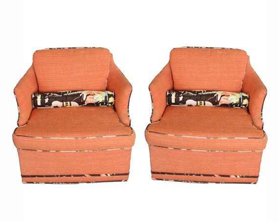 Coral Regency Chairs $750/pair