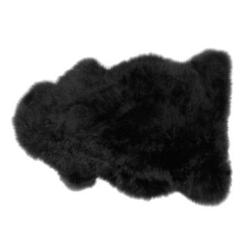 Black Sheepskin Pelt Rug - Target $99