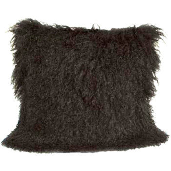 Black Mongolian Pillow - High Fashion Home $119