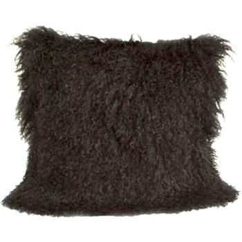 Black Mongolian Pillow - High Fashion Home $119