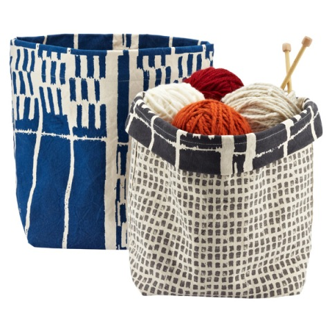 Reversible Canvas Bin - $34.99