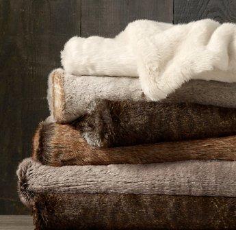 Restoration Hardware Fur Throw - $58.99 - $99