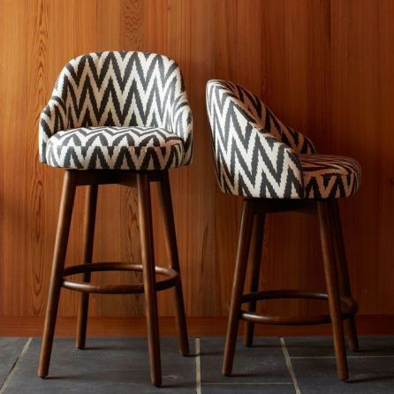 Saddle Bar + Counter Stool in Slate by West Elm - $399
