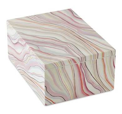 Chloe Faux-Agate Storage Box - $35