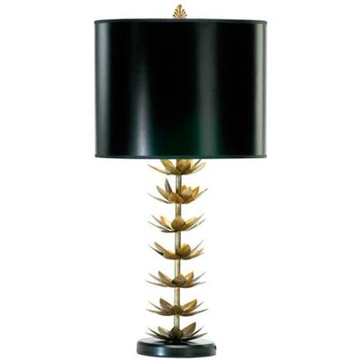 Gold Stacked Lotus Blossom Table Lamp