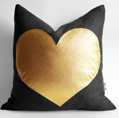 Heart Pillow via Sukan on Etsy
