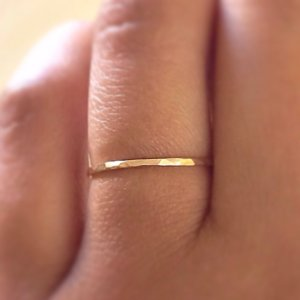 Gold Stack Ring - Arkens Jewelry Box - Etsy ($10/ea)