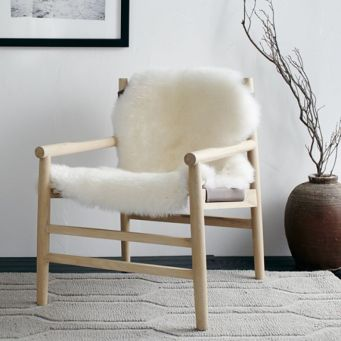 Fur Leather Sling Chair